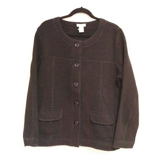 41e18c1259 Orvis Women s Wool Sweater Black size Large